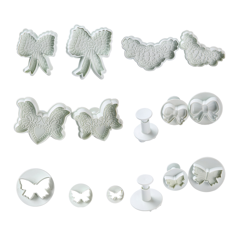 Hot Sale DIY Bow And Butterfly Shape Cookie Cutters Cake Molds Plastic Fondant Cake Decorating Tools Baking Mold