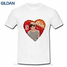 44c442964b87 GILDAN Disegno T Camicette Casual Freddo Ahhachi Boy Mens One Direction 1d  Louis Tomlinson Foto Logo della Maglietta di Grandi D..