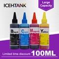 ICEHTANK Universal 100 ml Dye Tinte Refill-Kit für Epson 16XL T1631 Workforce WF-2010 WF-2510 WF-2520 WF-2530 Drucker Patrone