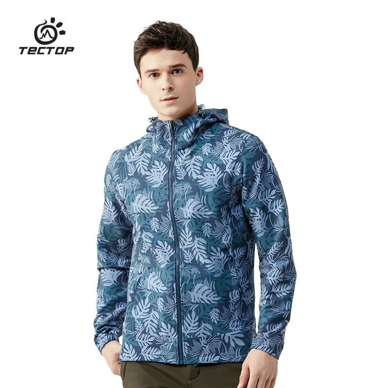 Tectop veste d'extérieur homme imperméable coupe-vent randonnée camping Sports camouflage simple couche printemps veste pour hommes