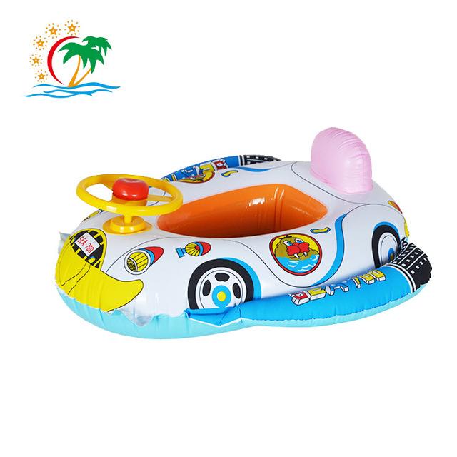 Bebé Inflables Largos de la Piscina de La Piscina de Natación Anillo Del Flotador Del Asiento Del Coche de Playa Barco de Juguete Para Niños