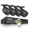 Sannce ahd cctv 4ch sistema 720 p hdmi dvr kit de vigilância 1200tvl waterproof night visão 4 câmeras de segurança ao ar livre kits