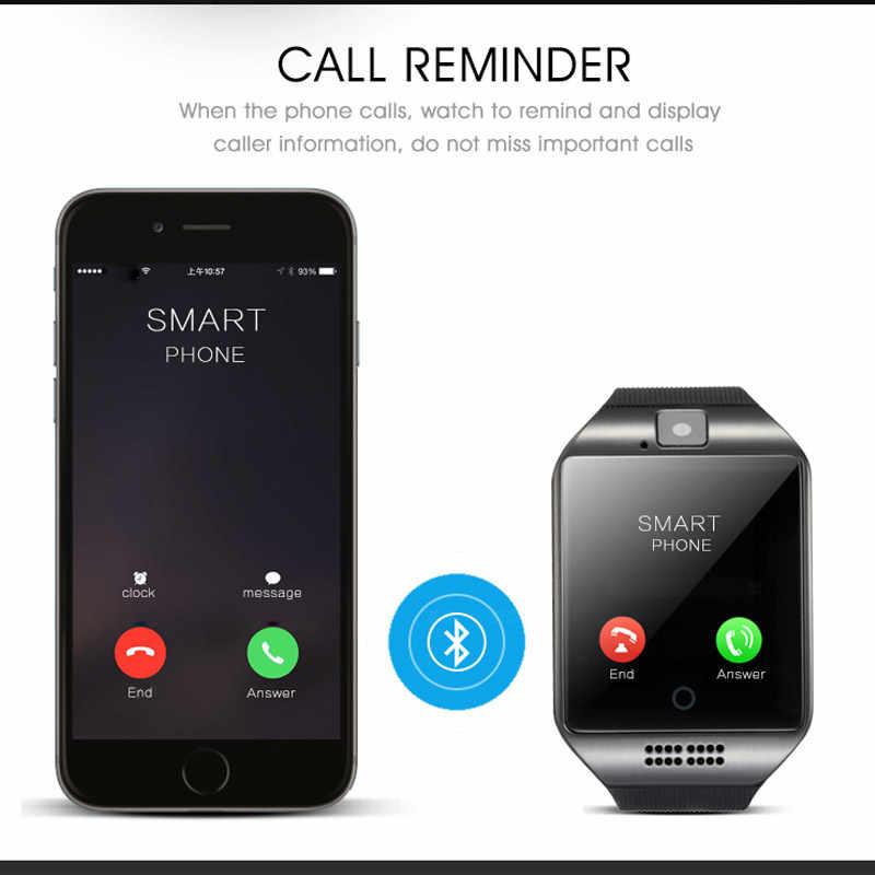 כושר חכם שעון Q18 נשים גברים ספורט פדומטר Bluetooth ריצה Smartwatch שעון חכם עם מגע מסך גדול סוללה