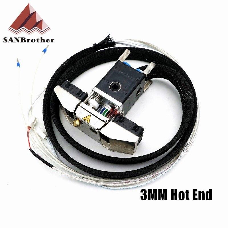Impressora 3D Ultimaker 2 + UM2 + Estendida Olsson Bloco Do Bico Completo Cabeçalho Cabeça para 3.00mm filamento Hotend 3D peça da impressora