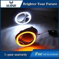 2x LED DRL Daytime Running Lights For Mitsubishi Outlander 2013 2014 2015 Daylight Waterproof Fog Lamps