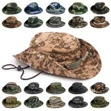 Классическая американская Боевая армейская стильная Gi Boonie куст шляпа для джунглей Солнцезащитная рыболовная кепка мужская женская хлопковая Рипстоп камуфляжная Военная Панама