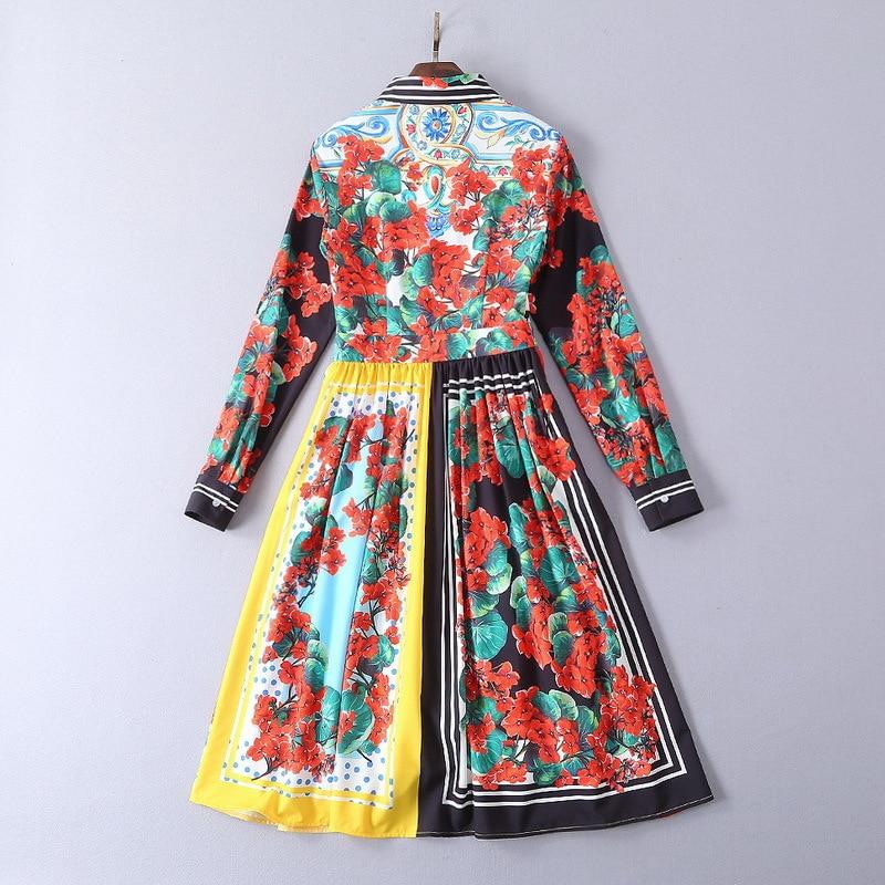 Européenne Style Printemps Mode Supérieure Design Luxe Marque 2019 De Partie Robe Qualité Ws02500 Femmes Nouvelle wgHOROvq