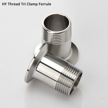 3/4 1 1 1/4  1 1/2 2 Sanitary Male Threaded Ferrule Pipe Fitting Tri Clamp Type Stainless steel SS304 1pc цена