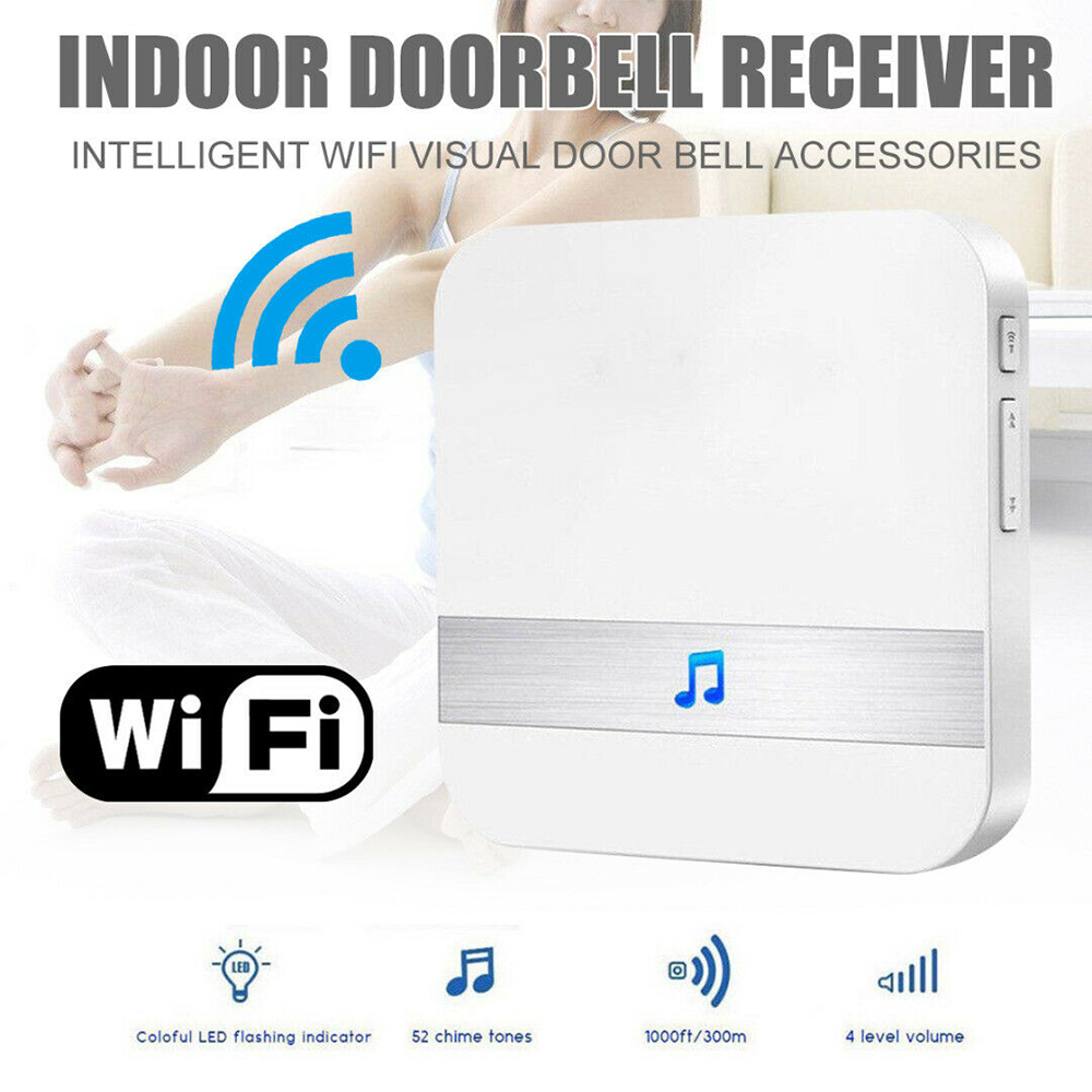 Smart Wireless WiFi Indoor Doorbell Ding Dong Door Bell Receiver UK/EU/US Plug