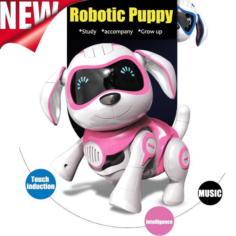 Juguete de inducción perro Control perro inteligente Robot electrónico mascota programa interactivo baile paseo Animal robótico juguete gesto siguiente