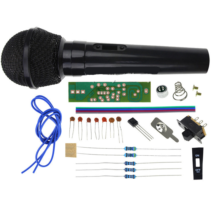 1set FM Frequency Modulation Wireless Microphone Suite Electronic Teaching DIY Kits