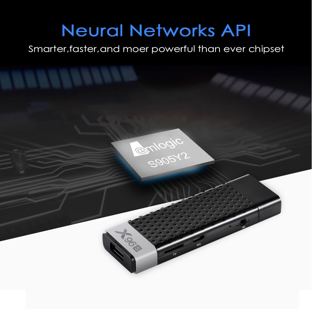 X96s Smart 4 K Android 8.1 TV Box Amlogic S905Y2 DDR4 4 GB 32 GB X96 Mini PC TV Stick 5G WiFi Bluetooth 4.2 TV Dongle lecteur multimédia - 4