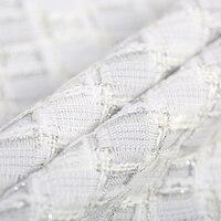 145 см шириной 290 г/м Вес трикотажные твид проверить белый акрил, шерсть, полиэстер Ткань для Осень и весна платье куртка DE654