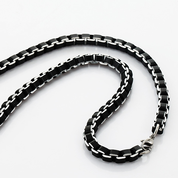 bling medium stainless jewelry swk cuban steel sf curb chain necklace mens black