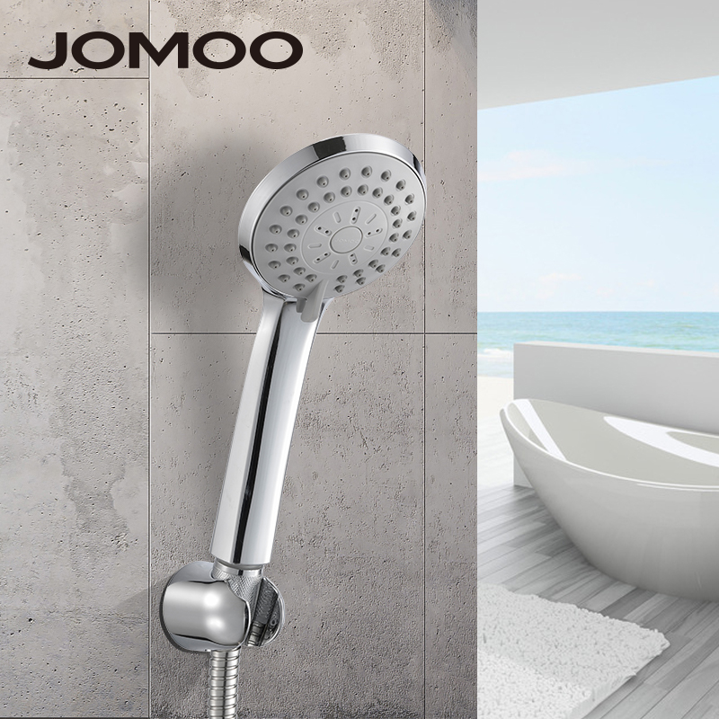 JOMOO Bathroom Shower Set ABS Round Shower Head With Flexible Stainless Steel Shower Hose and Wall Bracket Hand Shower