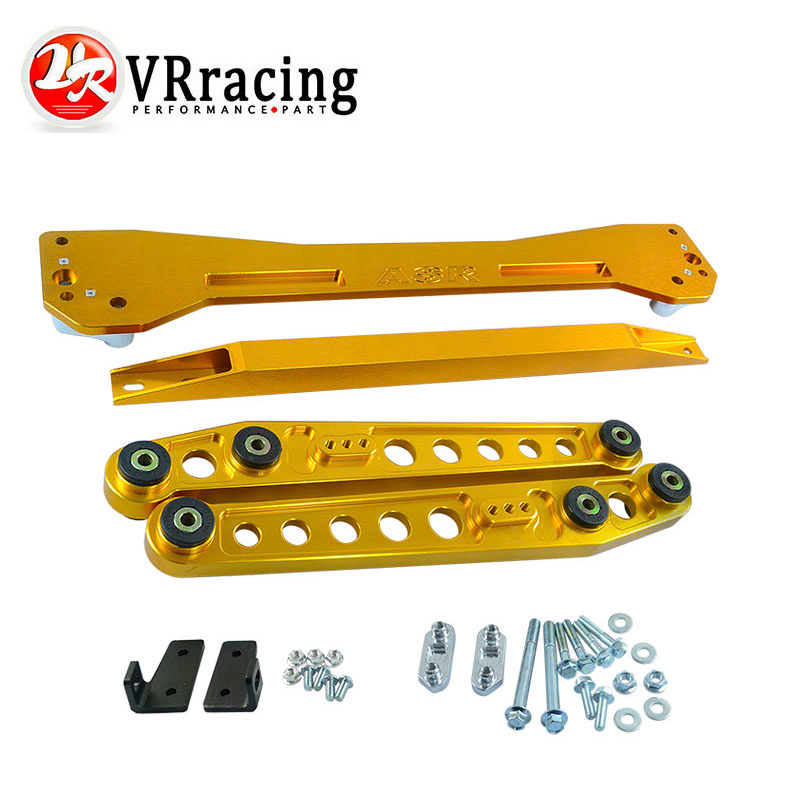 ФОТО VR RACING- ASR REAR SUBFRAME For 1996-2000 Civic + Rear Lower Control Arm Arms + 96-00 EK Tie Bar High Quality Anodize