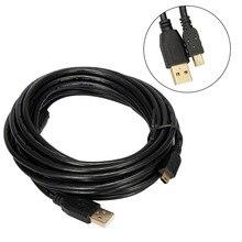 5 М/10 М Длиной 2.0 Мини USB Бронза Данных высокоскоростной кабель шнур питания для зарядного устройства камеры dslr sony ps3 контроллер