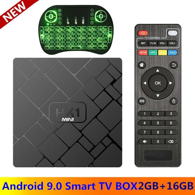 מקורי HK1 מיני אנדרואיד 9.0 טלוויזיה תיבת חכם 4K RK3229 Quad Core 2GB 16GB H.265 WiFi מדיה נגן HK1mini נטפליקס סט top box