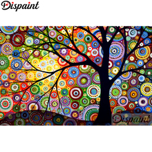 Dispaint Full Square/Round Drill 5D DIY Diamond Painting Oil painting tree Embroidery Cross Stitch 3D Home Decor A10607