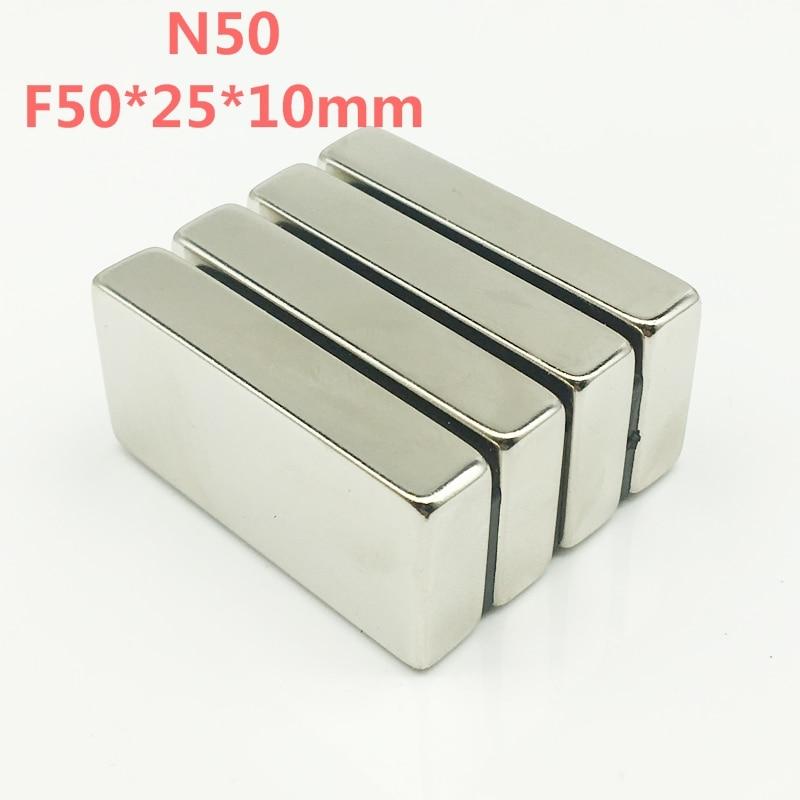 N50 магнитики 16 шт. большой объем супер сильные полосы Блок Магниты редкоземельные неодимовые 50x25x10 мм 50*25*10 мм