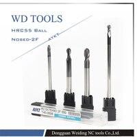 2 Flutes Longer hrc55 R4.0X100LX8D 8mm solid carbide Ball nose End Mill CNC router bits tools Longer Milling cutter