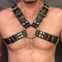BFFUR 2019 New Body Harness Belt Men Designer Belts High Quality Sexy Punk Bondage Dress Rave Holographic Leather Black