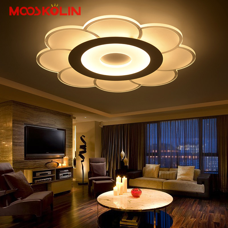 Remote control Dimming Led Ceiling lights lamp For Living room Bedroom deckenleuchten Modern Led Ceiling lights Lighting Fixture 2014new product 24w 2 4g rf touch remote control led ceiling panel 5630smd led lamp non polar dimming color temperature