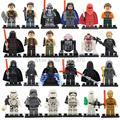 Últimas Space Star Wars Figuras 24 unids/lote C3PO Darth Vader Yoda Solider B2B Lepin Starwars Bloques de Construcción Ladrillos Juguetes 2017