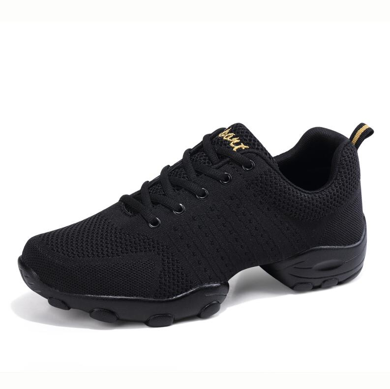 Comemore Modern Men Fitness Dance Shoe Black Soft Dancing Sneakers White Breathable Mesh Jazz Dancing Shoes Women Lady Sneakers