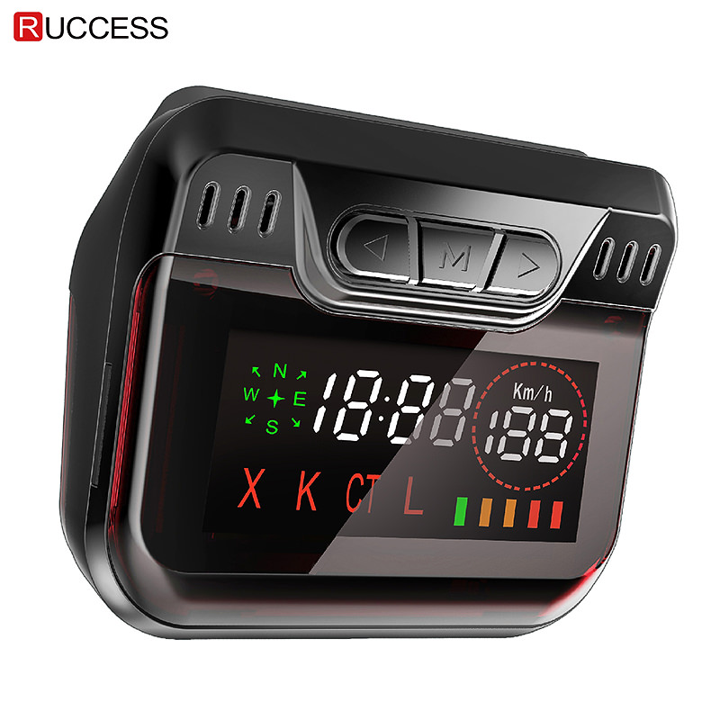New Ruccess Police Radar Detector for Russia GPS Speed Laser band Car Detector 2 in 1 GPS Anti Radar for Car Auto 360 X LA CT L chuangzhuo 1 2 lcd intelligent full frequency conversion 360 radar detector for car black orange