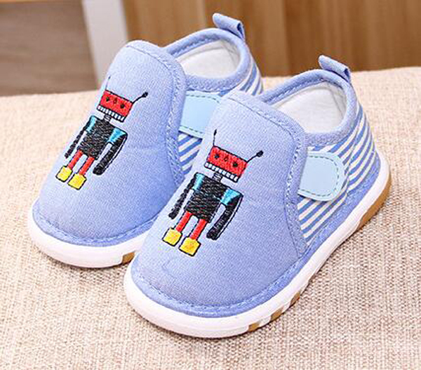 little boys cotton shoes squeak robot squeaky shoes kids flats shose zapato autumn injection shoes for baby boys crawler shoes