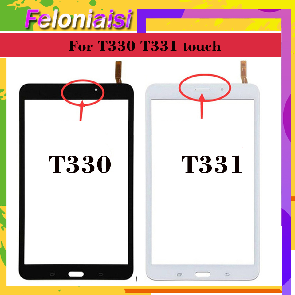 For Samsung Galaxy Tab 4 8.0 SM-T331 T331 LTE T335 Wifi SM-T330 T330 Touch Screen Digitizer Front Glass Panel Sensor Touchscreen
