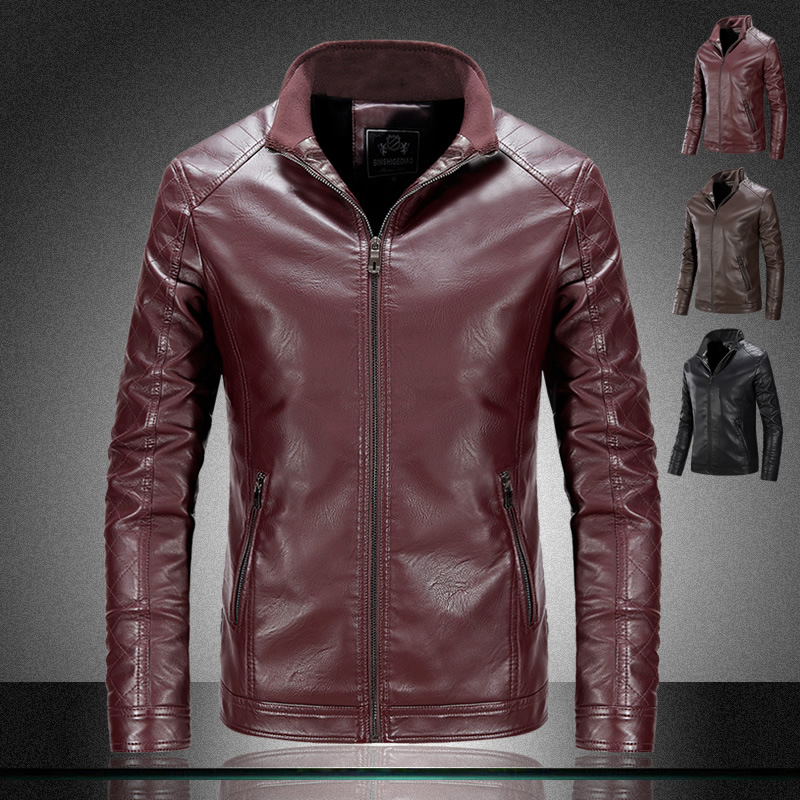 58472498a US $39.99 10% OFF|Men Leather Suede Jacket Fashion Autumn Motorcycle PU  Leather Male Winter Bomber Jackets Outerwear Faux Leather Coat-in Faux  Leather ...