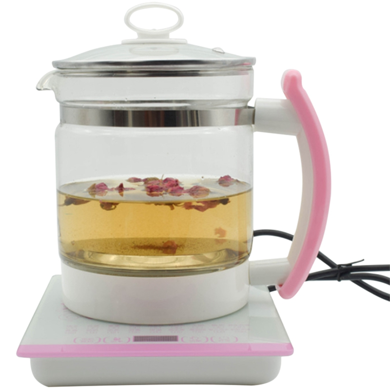 18 Functional Glass Health Pot Flower Teapot Boiling Pot-Eu Plug18 Functional Glass Health Pot Flower Teapot Boiling Pot-Eu Plug