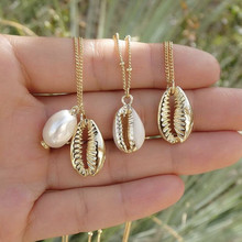 New Bohemian Cowrie Conch Shell Pendant Necklace for Women Fashion Ocean Sea Beach Necklaces Boho Jewelry A30