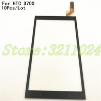 10Pcs/Lot Original 5.0 Touch Screen For HTC Desire 700 D700 Digitizer Front Glass Lens Sensor Panel Replacement Parts+Logo