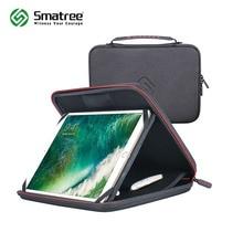 حافظة حمل صلبة من Smatree لأجهزة iPad Pro مقاس 10.5 بوصة ، لتخزين أجهزة iPad مقاس 9.7 بوصة حقيبة يد متينة مقاومة للماء باللون الأسودcarrying casehard carry casehard case