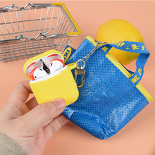 Fashion Storage Bag Silicone Case for Apple Airpods 1 2 Accessories Bluetooth Earphoone Carrying Protective Cover