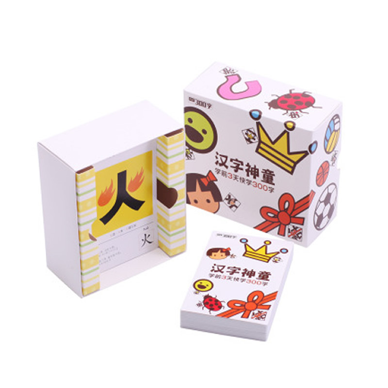 Chinese characters cards learn 300 Chinese characters with the picture ,children early educational Book for kids Baby