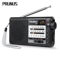 PRUNUS J 01 Retro Radio Receiver Pocket fm antenna radio FM/AM(MW)/SW Micro SD MP3 Pointer adjustment 2200mAH free shipping