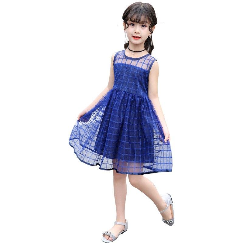 2018 new summer dress Korean version Chinese girl western style tennis dress little girl princess dress цена