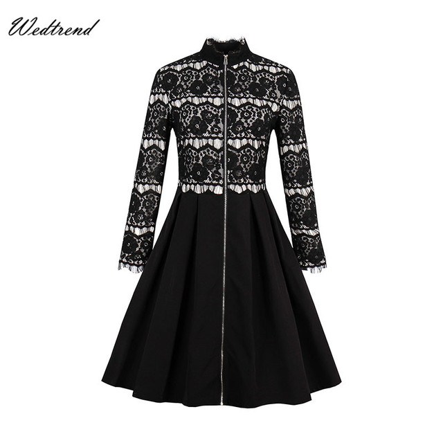Wedtrend 1950s Dress Black Loose Women\'s Dress Audrey Hepburn Style ...