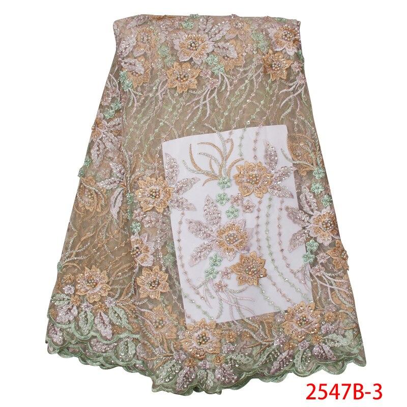 Última tela de encaje de boda Popular telas de encaje nigeriano de flores 3D para vestido de fiesta de noche tela de encaje de tul francés APW2547B 3-in encaje from Hogar y Mascotas    1