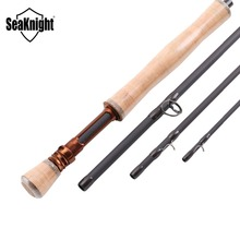 SeaKnight MAXWAY Fly Rod Honor 6/7/9/10FT 4 Sections Fly Fishing Rod FUJI Ring Carbon Fiber Rod Medium Fast Action River Fishing