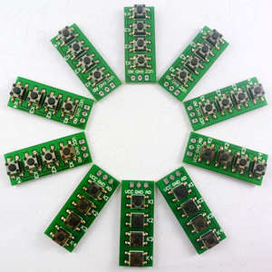 10PCS AD Keypad  4 Accessory board matrix buttons controlled ADC port keyboard