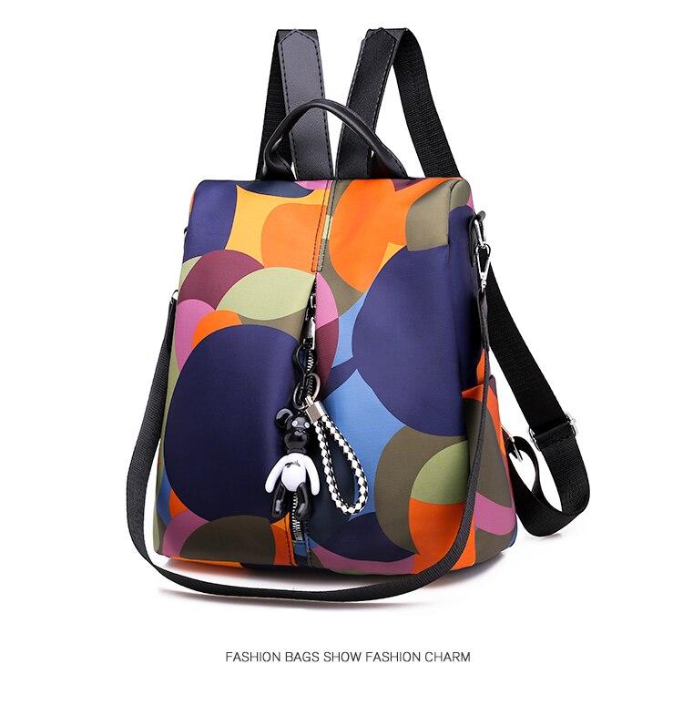água oxford bagpack feminino anti roubo mochila para meninas 2019 sac a dos