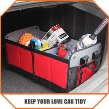 CAR INTERIORS STOWING TIDYING , 600D OXFORD MATERIAL FOLDING STORAGE BAG , CLASSIC RED COLOR CS06