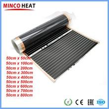 Calentador de película de carbono con calefacción infrarroja por suelo radiante saludable de 220V 50cm de ancho