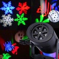 Weihnachten Laser Projektor DJ LED Bühne Licht Herz Schnee Spinne Bowknot Landschaft Party Lichter Garten Lampe Außen Beleuchtung-in Bühnen-Lichteffekt aus Licht & Beleuchtung bei