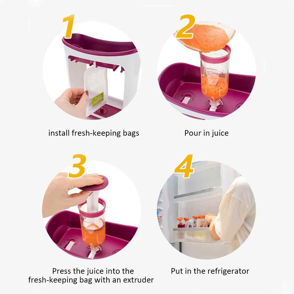 Children's Fruit Mashing Squeezing Household Kitchen Packing Machine Food Supplement Machine Food Storage Machine